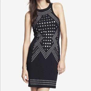 Express Black Studded Sleeveless Dress sz M